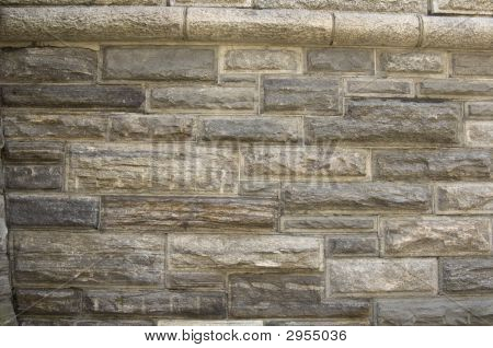 Multi-farbige Ziegel-Mauer