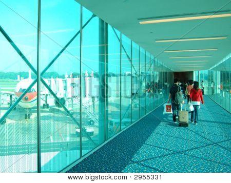 Travel Passengers Boarding Aeroplane