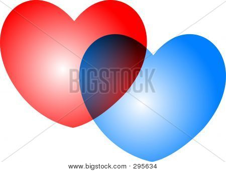 Overlapping Hearts