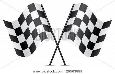 Vector banderas de carreras