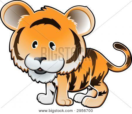 Tigre lindo Vector Illustration