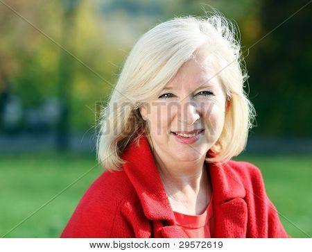Closeup Portrait einer glücklich reife Frau