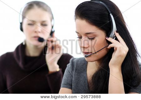 Business-Frauen mit headset