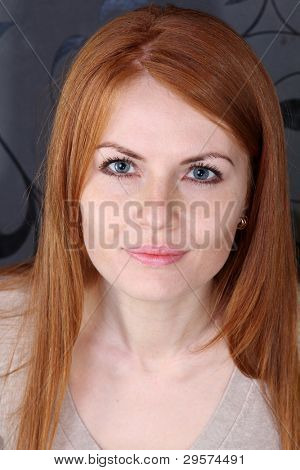 young beautiful redhair woman