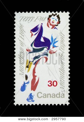 Terry Fox Postage Stamp