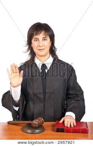 Female Judge Taking Oath