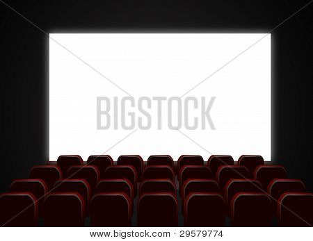 cinema seats with screen