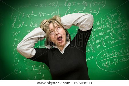 Stressed Teacher