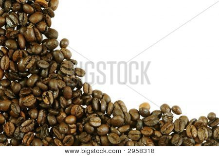 Abstract Coffee Beans Frame