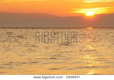 Sunset At West Kirby