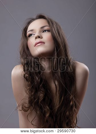 sexy young woman portrait - close breast