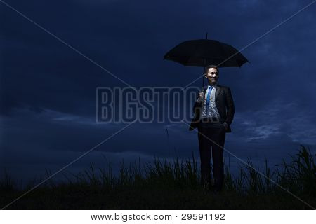 The Agent Holding Umbrella