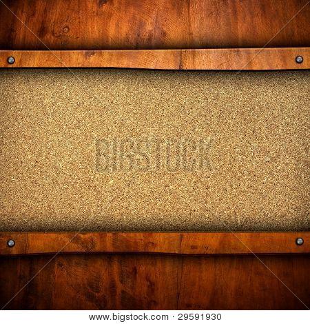 Spanplatte mit Holzrahmen