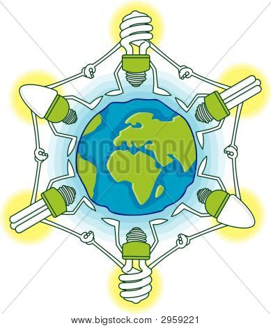 Globe With Cfls