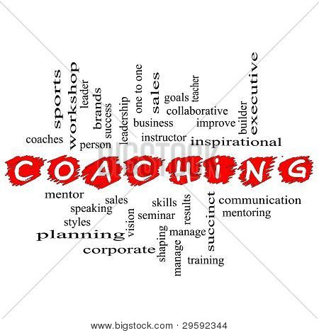 Coaching Word Cloud Scribbled