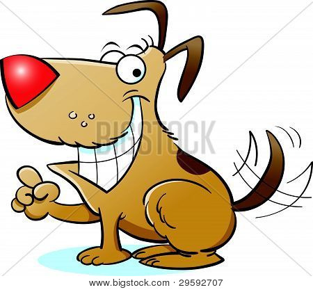 Cartoon Smiling Dog