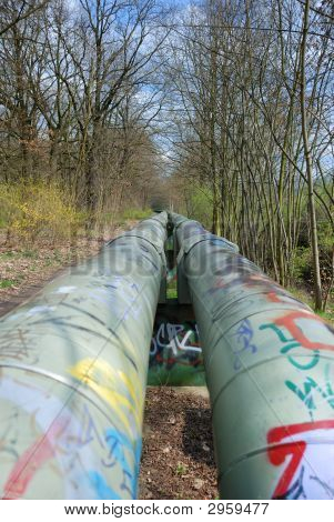 Pipeline With Graffiti