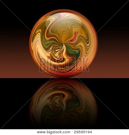 hot magic ball with mirrors