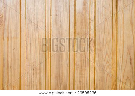 Wooden pine boards, vertical lacquered