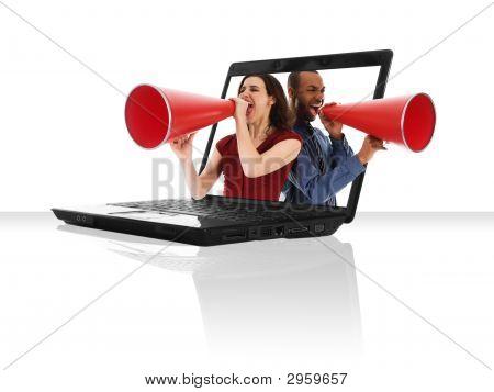 Megafone portátil