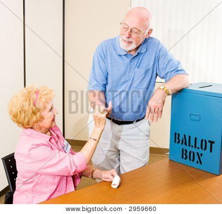 Election - I Voted Sticker