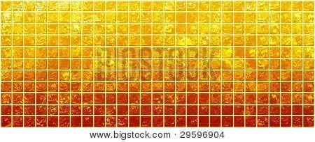 Banner der schillernden Goldene Quadrate auf ein weißes