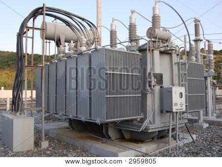 Transformador de la central eléctrica