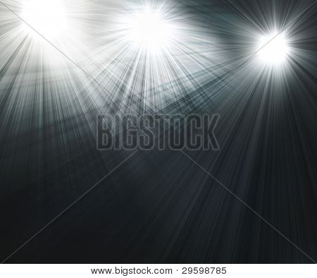 three spotlights Black and White Lighting Equipment