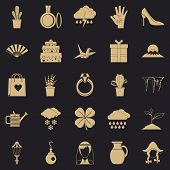 Flower Scent Icons Set. Simple Set Of 25 Flower Scent Vector Icons For Web For Any Design poster