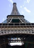 Eiffle Tower Looking Up poster