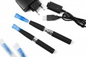 stock photo of electronic cigarette  - Electronic cigarette  - JPG