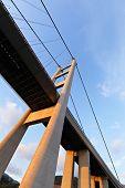 picture of tsing ma bridge  - Tsing Ma Bridge - JPG