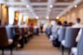 Conference, Presentation, Business Event. Audience At Conference Hall. Blurred Object, Soft Focus poster