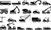 pic of power-shovel  - Set of transport silhouette - JPG
