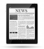 image of newsletter  - News on tablet pc - JPG