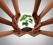Social Community Cooperation Concept And Group Crowdfunding Investment Symbol As A Team Of Diverse H poster