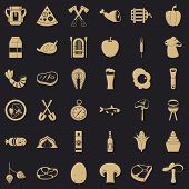 Barbecue Party Icons Set. Simple Style Of 36 Barbecue Party Icons For Web For Any Design poster