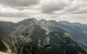View From Volovec Mountain Peak On Rohace Mountain Group In Zapadne Tatry Mountains On Slovakian - P poster