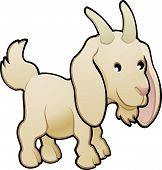pic of farm animals  - A cute goat farm animal vector illustration - JPG