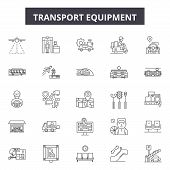 Equipment Equipment Line Icons, Signs Set, Vector. Equipment Equipment Outline Concept, Illustration poster
