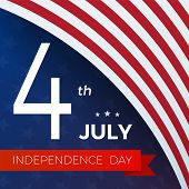 4th Of July With Usa Flag, Independence Day Banner. Fourth Of July Felicitation Classic Postcard. Us poster