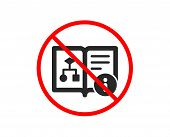 No Or Stop. Technical Algorithm Icon. Project Documentation Sign. Prohibited Ban Stop Symbol. No Tec poster