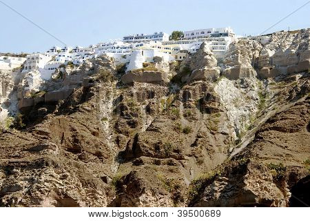 Panoramic view of Santorini's city