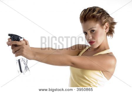 Beautician With Spray Bottle