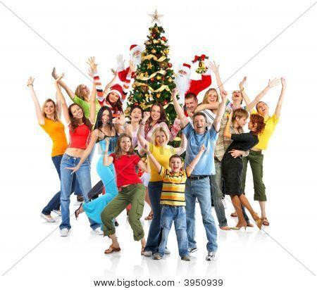 Gente feliz Navidad