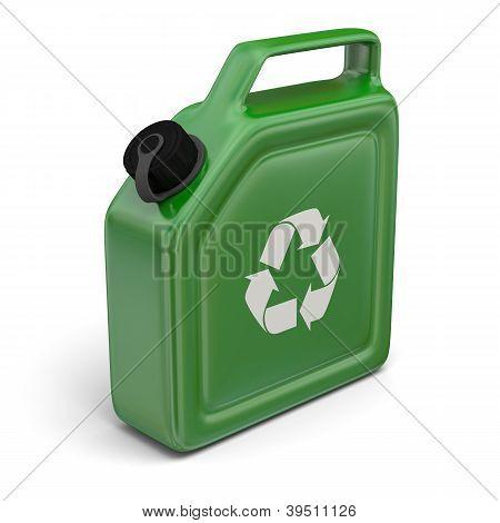 Jerry podem com sinal de reciclagem