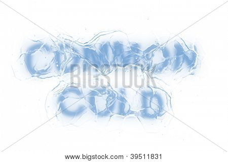 A frozen common cold words from a serie isolated on a white background.