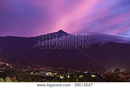 Teide Mountain At Sunset