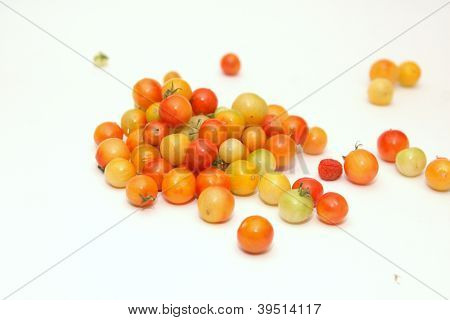 Multicolored cherry tomatoes