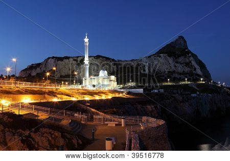 Mosque In Gibraltar At Night